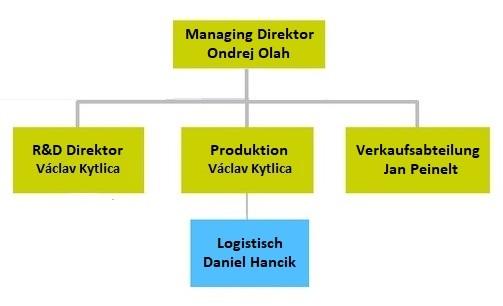 Organisationsstruktur des Unternehmens